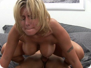 busty blonde riding cock